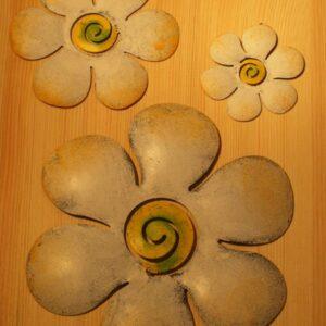 wanddecoratie bloem wit 8,5 cm AANBIEDING