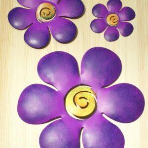 wanddecoratie bloem paars 8.5 cm AANBIEDING