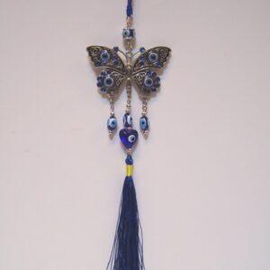 decohanger vlinder - blauwe boze oog 25 cm