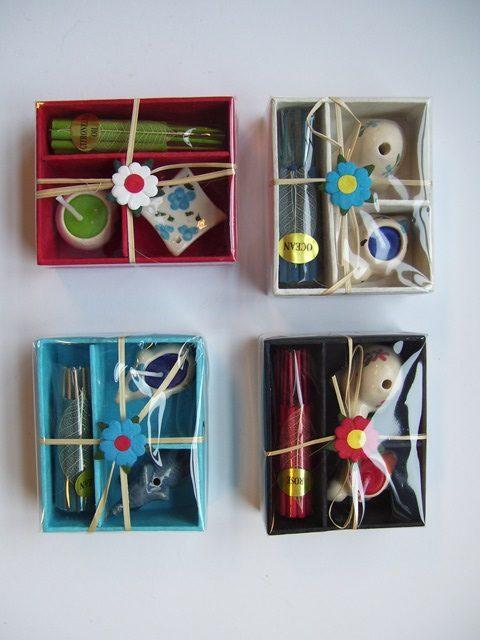 Giftbox kaarsjes + wierook/houder