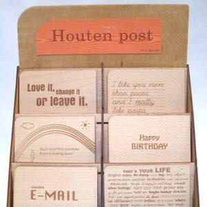Houten Post Kaarten