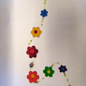 Mobiel slinger bloemen 98 cm