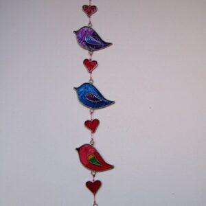 Mobiel slinger vogels  28 x 7 cm TIJD. UITVERK
