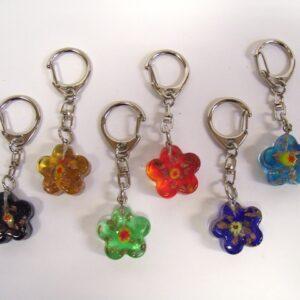 Sleutelh. bloem glas