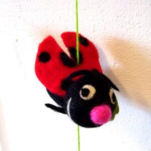 Vilt hanger geluks liefheersbeest 150 cm