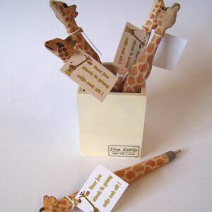pen giraffe  hout