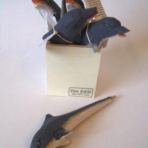 pen dolfijn  hout