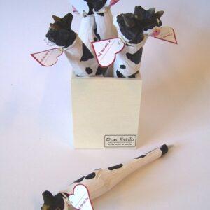 pen koe hout met kaartje (ik cow van you)
