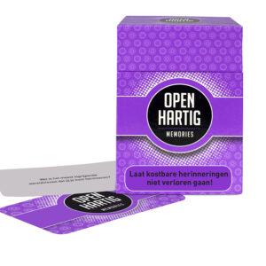 Openhartig(e)vragen - memories - kaartspel