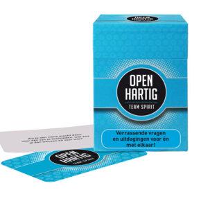 Openhartig (e) vragen - team spirit-  kaartspel