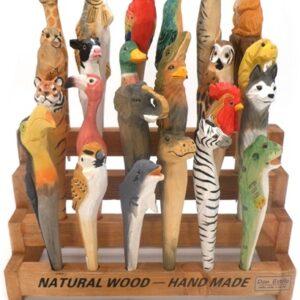 pen : dieren pennen hout handgemaakt 20 cm